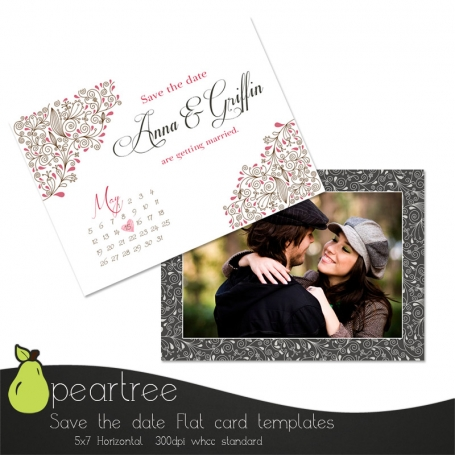 Save The Date PSD Template 105