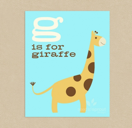 G is for Giraffe Wall Art