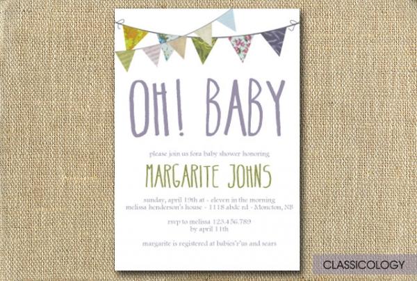 shabby chic baby shower invitations - invitations / baby | luvly, Baby shower invitations
