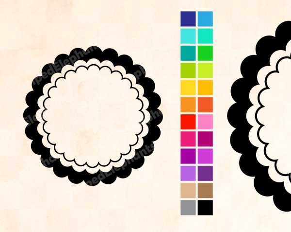 Triple Scalloped Frames - Graphics / Clip Art | Luvly