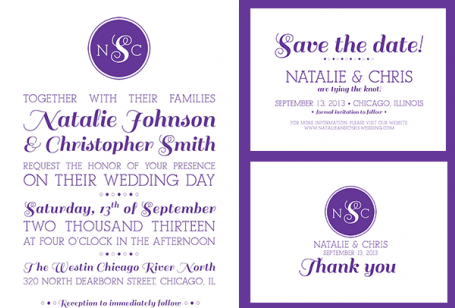 Purple Mix Type Invite Suite