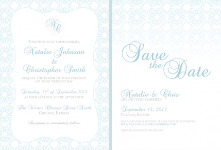 Blue Pattern Invite Suite