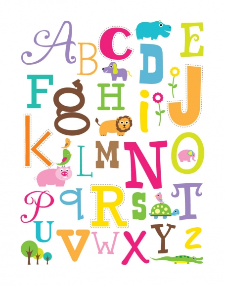 Colorful Letters Wall Art