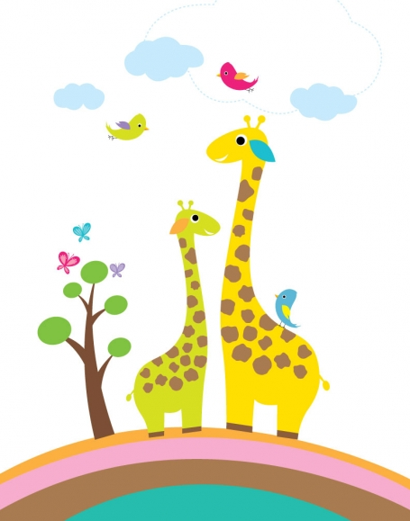 Giraffes Wall Art