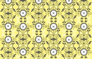 Yellow/Grey Floral