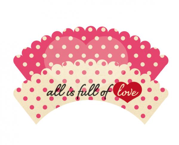 Pink Retro DIY Printable Cupcake Wrapper - Print ...