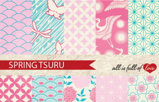 Spring Tsuru Backgrounds