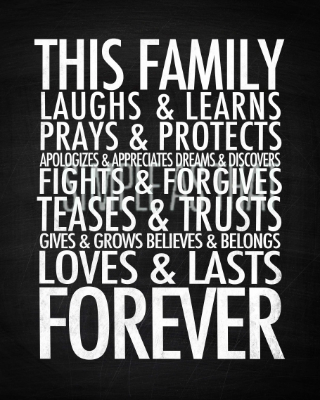 Family Forever Print Small