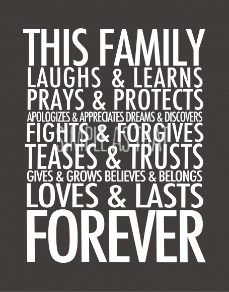 Grey Family Forever Large