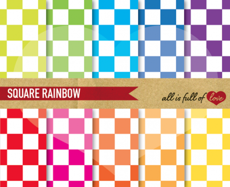 Square Rainbow Backgrounds