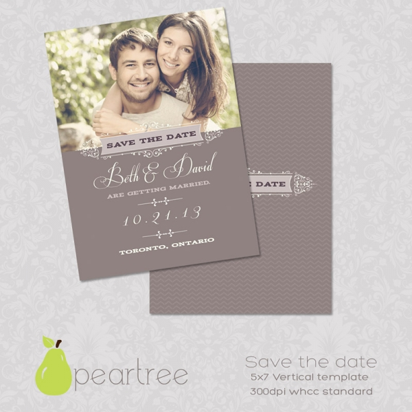 5x7in save the date psd template 106 print for Save the date templates free download