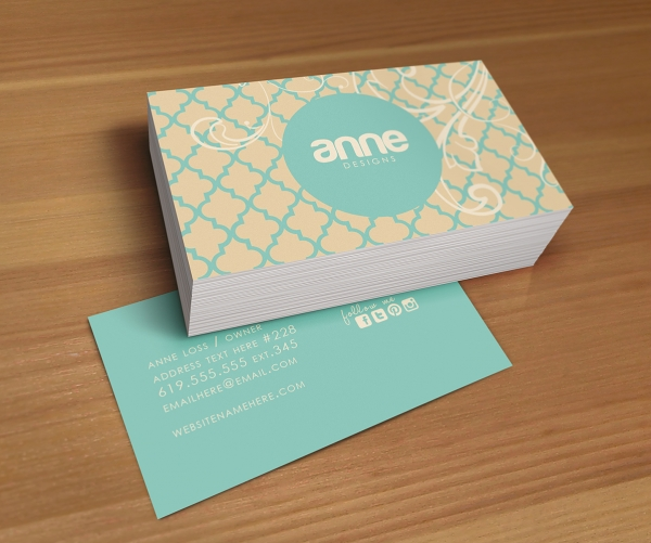 Anne double sided business card business business cards luvly download anne double sided business card reheart Images