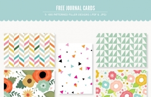 Patterned 4x6 Journal Cards