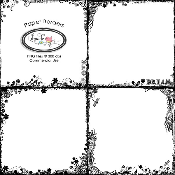 Download Paper Borders Vintage Border Overlays