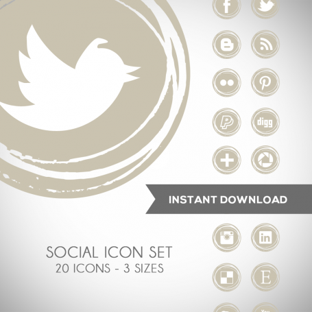 Tidal Foam Social Media Icons