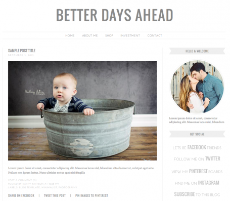 Better Days Ahead Blogger Template
