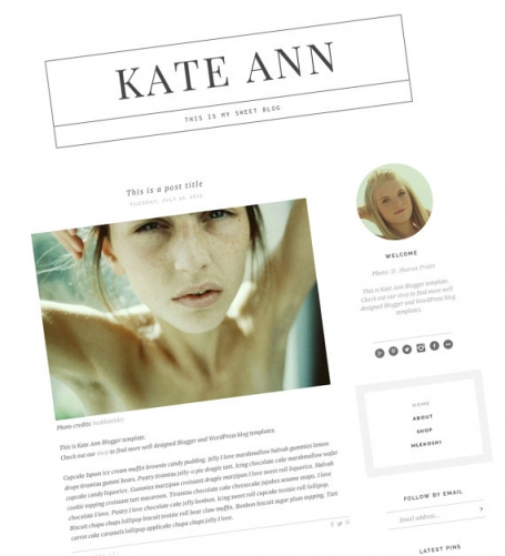 Kate Ann Blogger Templates