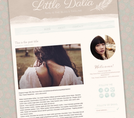 Little Dalia Blogger Template