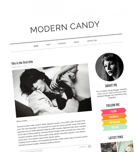 Modern Candy Blogger Template