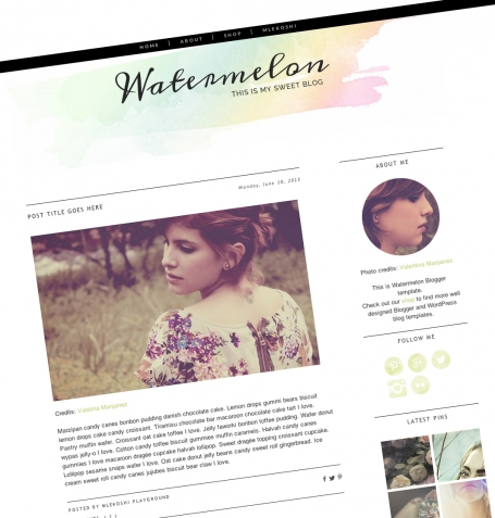 Watermelon Blogger Template