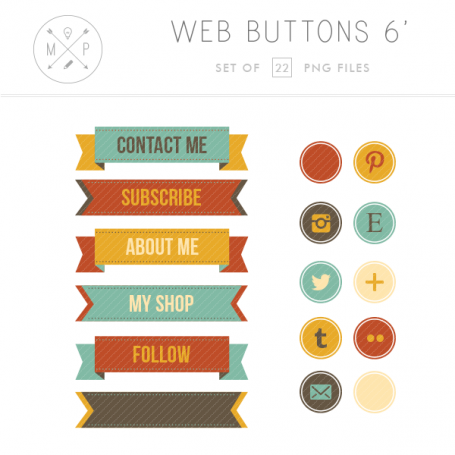 Ribbon Blog Buttons
