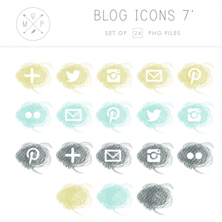 Crayon Social Media Icons II