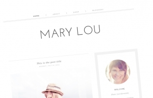 Mary Lou Blogger Template