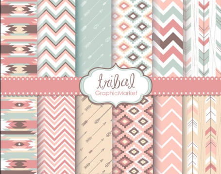 Tribal Digital Paper Pack I