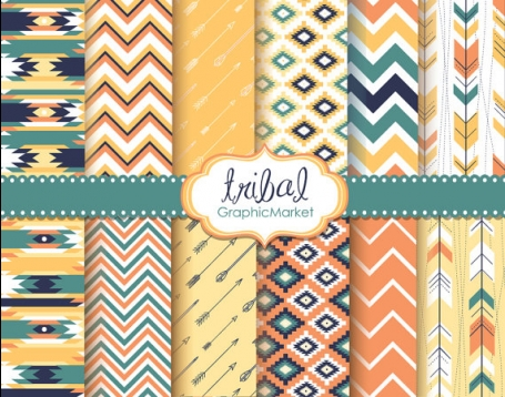 Tribal Digital Paper Pack II