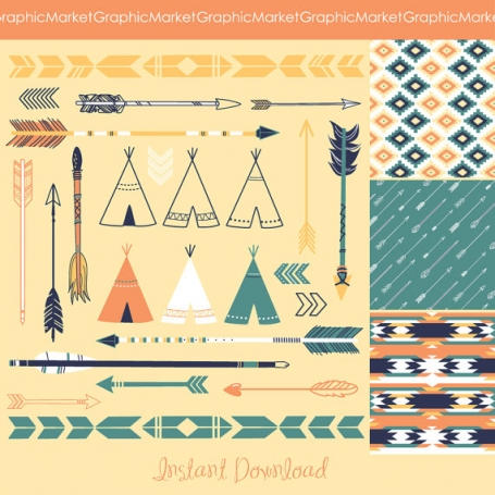 Tribal Clip Art and Patterns