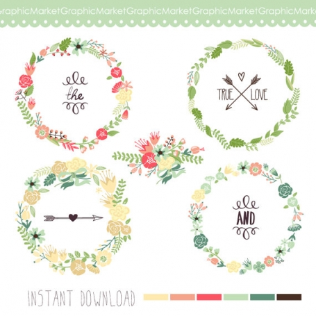 Wreath Floral Clip Art