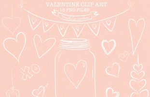 15 png valentine clip art