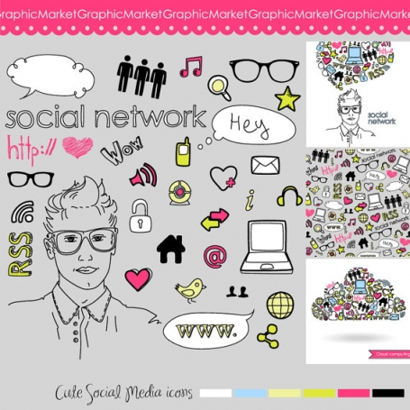 Social Network Clip Art & Icons