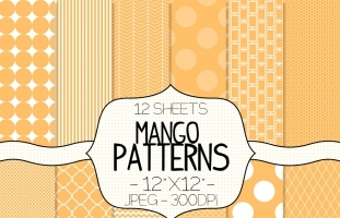 Orange Digital Paper Colorful Digital Paper Pack Graphics Patterns Luvly