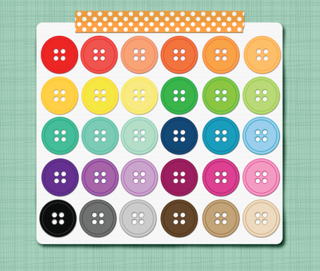 Button Clip Art Images Sewing