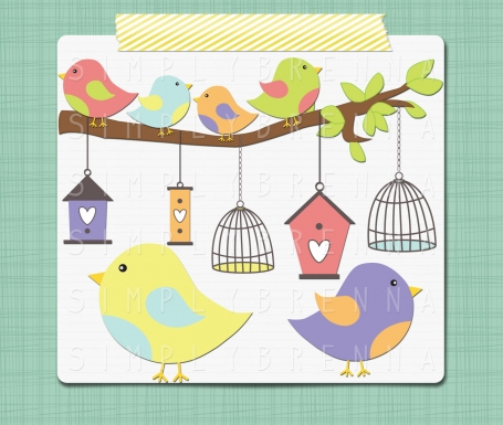 Bird Clip Art Images Tree and Bird