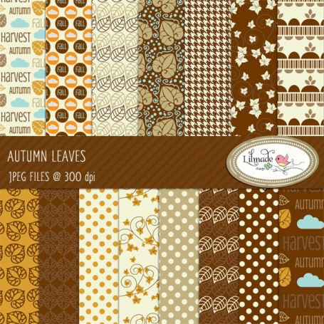 Autumn Leaves Digital Papers