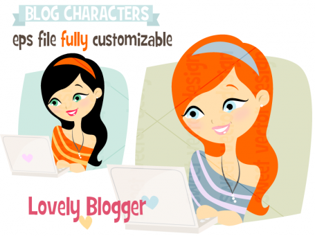 Blog Character 'lovely blogger'
