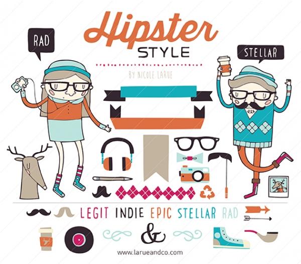 Hipster Clip Art