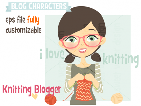 Blog Character 'knitting blogger'