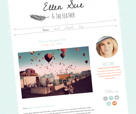 Cute Wordpress Themes, this is WP Template Heaven... | Luvly