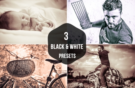3 Black and White Lightroom Presets