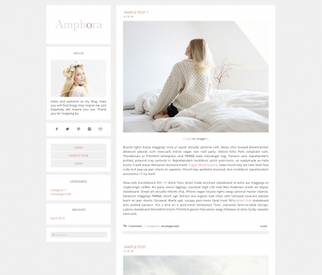 Amphora Wordpress Theme