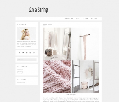 On a String - Wordpress Theme