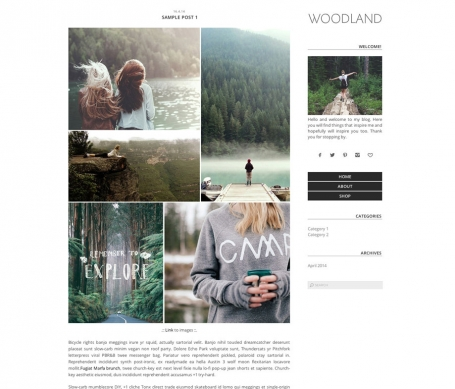 Woodland - Wordpress Theme
