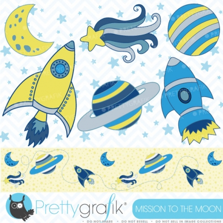 Space clipart commercial use,