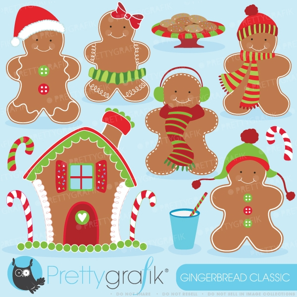 Gingerbread Man Clipart Commercial Use Vector Graphics