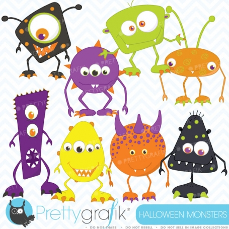 Monster clipart  (commercial use,
