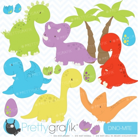 dinosaur clipart  (commercial use,