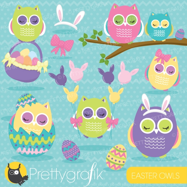 free easter owl clip art - photo #36